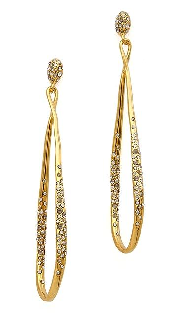 Alexis Bittar Crystal Encrusted Drop Earrings