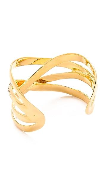 Alexis Bittar Bel Air Druzy Ribbon Cuff