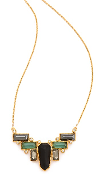 Alexis Bittar Bel Air Deco Mosaic Necklace