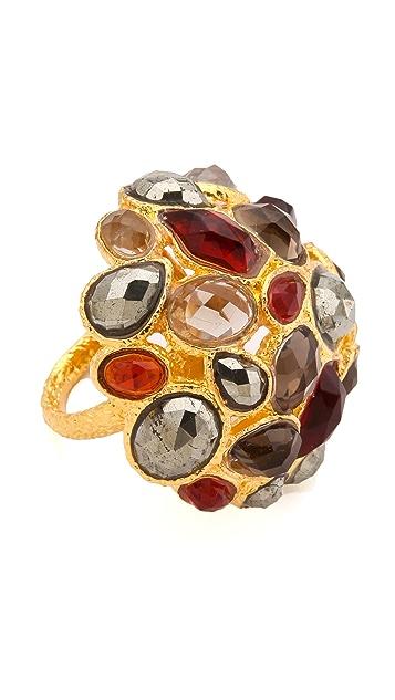 Alexis Bittar Siyabona Domed Cluster Ring