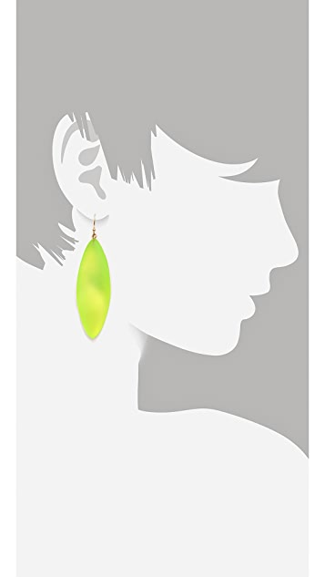 Alexis Bittar Long Leaf Earrings
