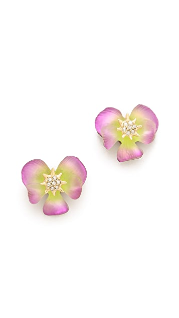 Alexis Bittar Ophelia Pansy Post Earrings