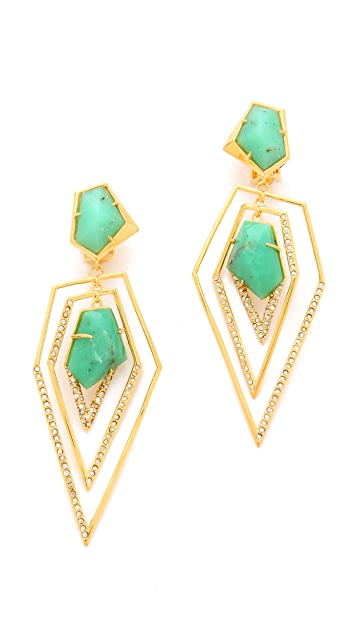 Alexis Bittar New Wave Drop Clip Earrings