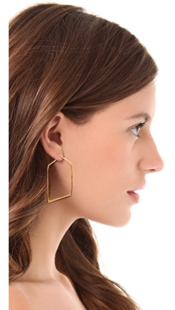 Alexis Bittar New Wave Angled Hoop Earrings