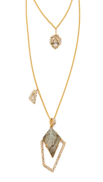 Alexis Bittar New Wave Doubled Necklace