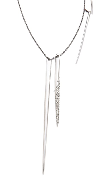 Alexis Bittar Crystal Long Spear Necklace