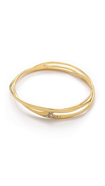 Alexis Bittar Liquid Pave Wave Bangle