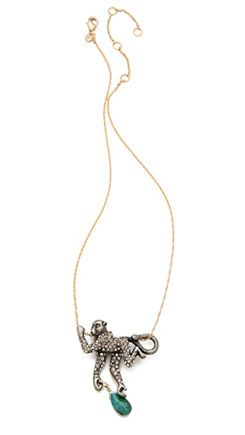 Alexis Bittar Mauritius Spider Monkey Pendant Necklace
