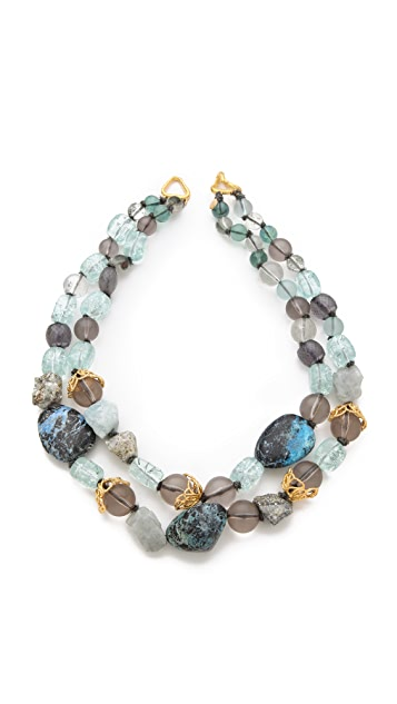 Alexis Bittar Mauritius Stone Necklace