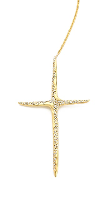 Alexis Bittar New Wave Cross Drop Necklace