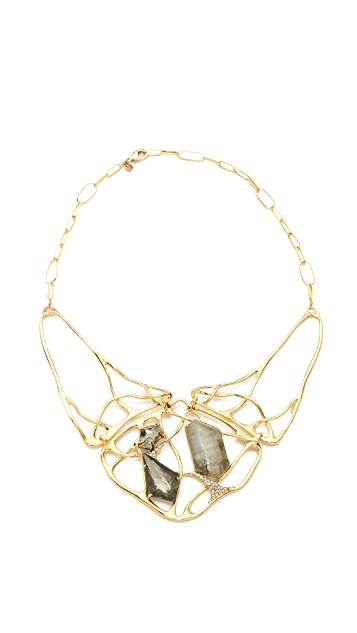 Alexis Bittar Liquid Large Doublet Interlaced Necklace