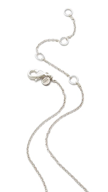 Alexis Bittar Crystal Horseshoe Necklace