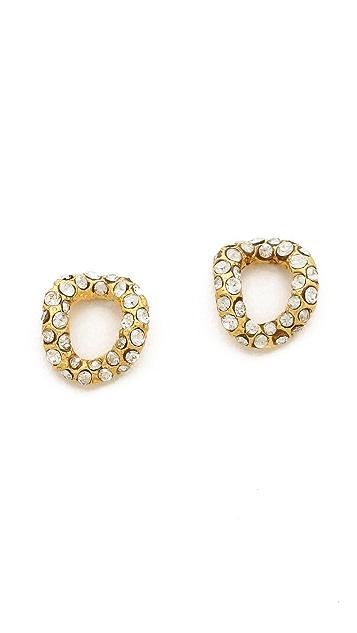 Alexis Bittar Chain Link Stud Earrings