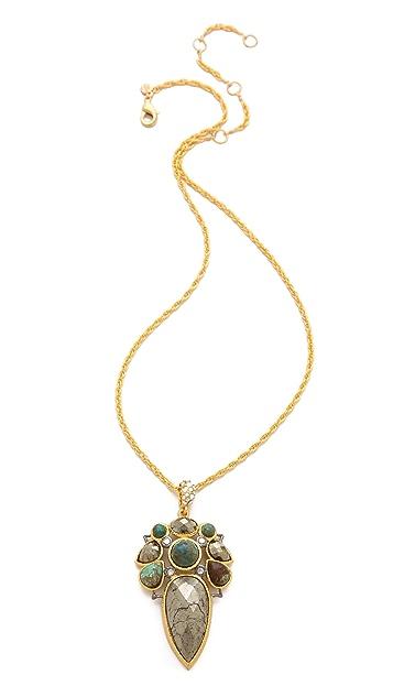 Alexis Bittar Mosaic Pendant Chrysocolla Necklace