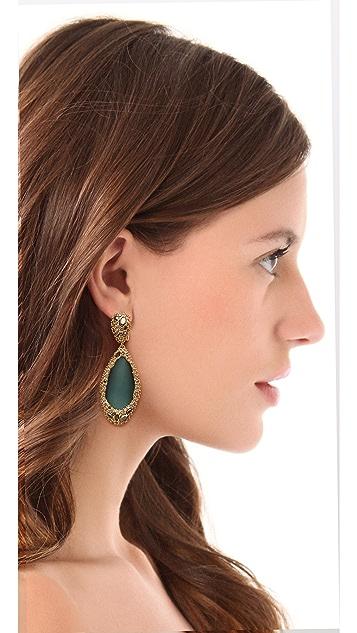 Alexis Bittar Neo Bohemian Stone Clip Earrings