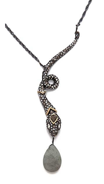 Alexis Bittar Snake Pendant Necklace