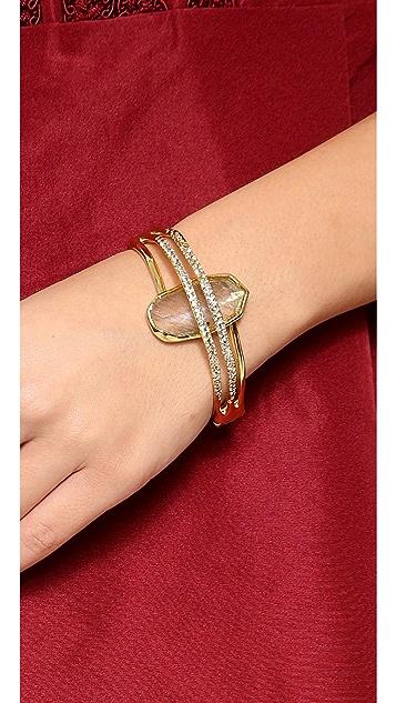 Alexis Bittar Double Ringed Labradorite Bracelet