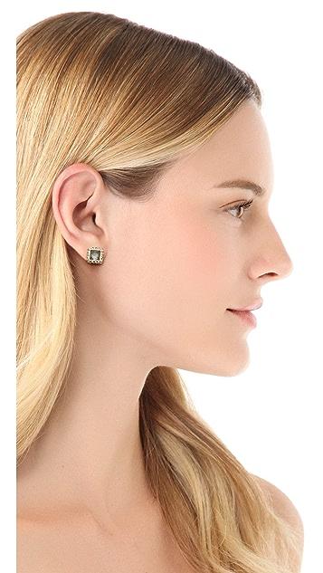 Alexis Bittar Geometric Stud Pyrite Earrings