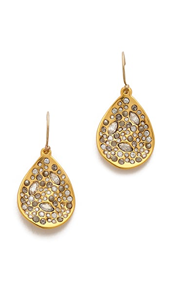 Alexis Bittar Crystal Encrusted Drop Earrings