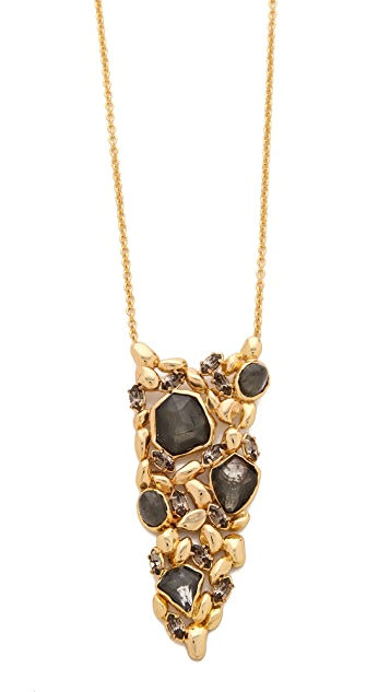Alexis Bittar Articulating Pyrite Pendant Necklace