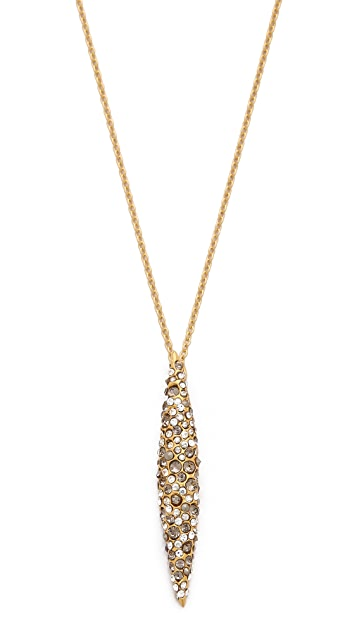 Alexis Bittar Crystal Encrusted Spear Pendant Necklace