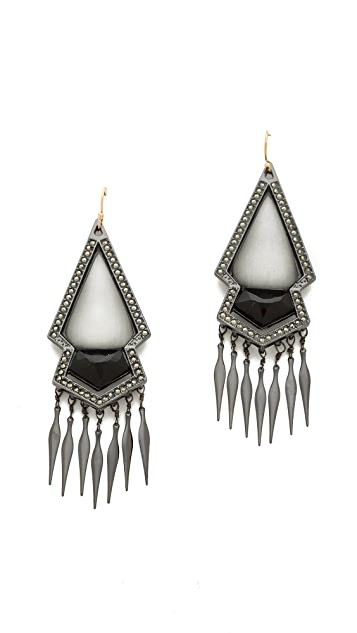 Alexis Bittar Sante Fe Deco Fringed Arrow Earrings
