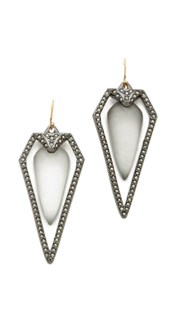 Alexis Bittar Santa Fe Deco Arrowhead Earrings