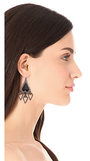 Alexis Bittar Santa Fe Deco Arrowhead Chandelier Earrings