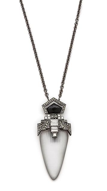 Alexis Bittar Santa Fe Deco Jewel Pendant Necklace