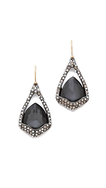 Alexis Bittar Suspended Hematite Drop Earrings