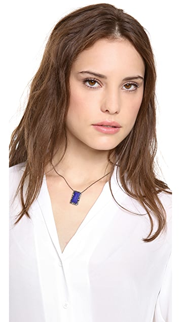 Alexis Bittar Framed Lapis Necklace
