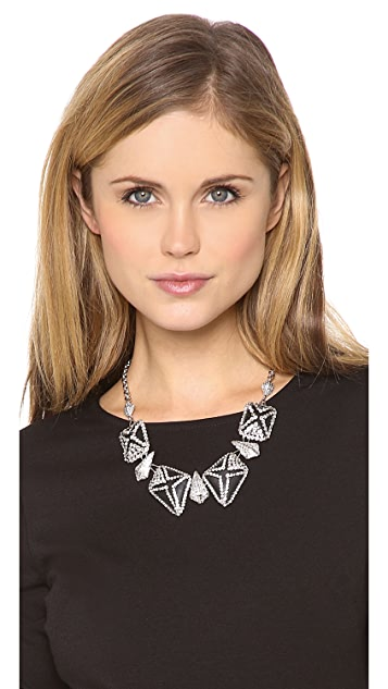 Alexis Bittar Crystal Lattice Caged Bib Necklace