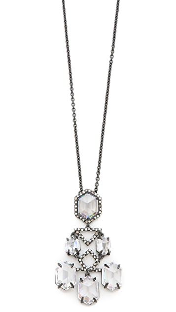 Alexis Bittar Pavo Chandelier Dangling Necklace