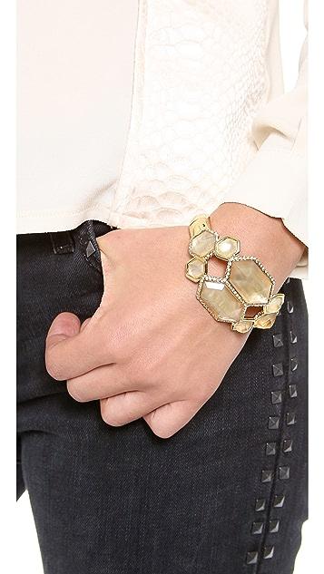 Alexis Bittar Mirrored Citrine Bracelet
