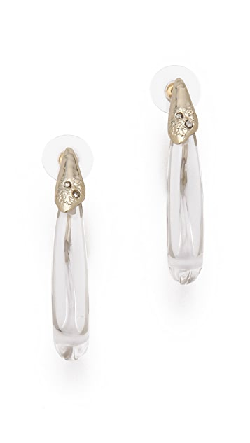 Alexis Bittar Antibes Textured Crystal Hoop Earrings