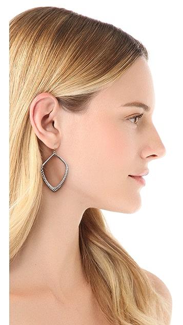 Alexis Bittar Large Pave Kite Orbit Earrings