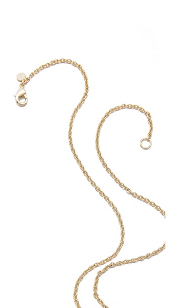 Alexis Bittar Lariat Sabre Tooth Pendant Necklace