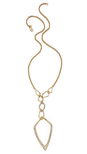 Alexis Bittar Geometric Link Y Necklace