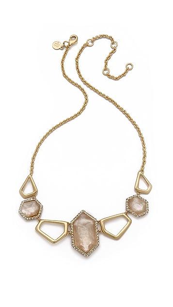 Alexis Bittar Linked Citrine Hexagon Necklace