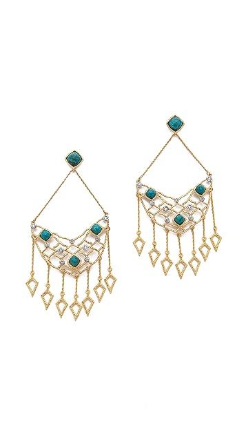Alexis Bittar Mosaic Dangling Spear Chandelier Earrings