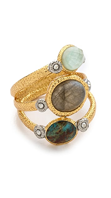 Alexis Bittar Mosaic Crystal Studded Stacking Ring