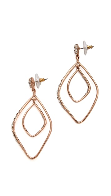 Alexis Bittar Linear Orbiting Pave Earrings