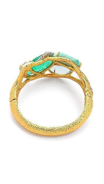 Alexis Bittar Multi Stone Ecrusted Vine Hinge Bracelet