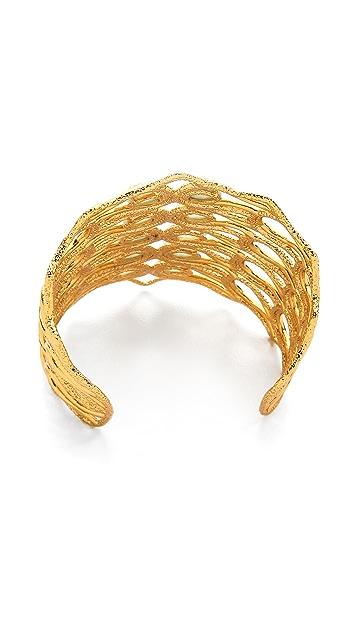 Alexis Bittar Scalloped Aigrette Cuff Bracelet