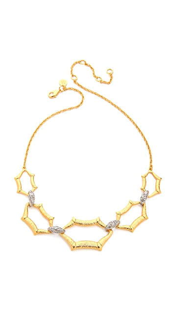 Alexis Bittar Scalloped Link Crystal Necklace