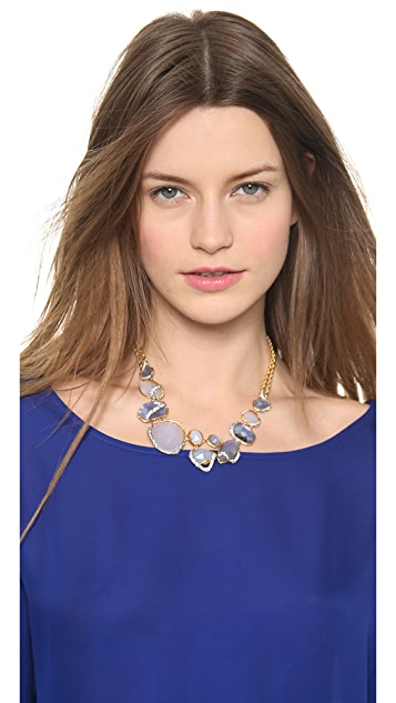 Alexis Bittar Multi Stone Encrusted Bib Necklace