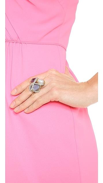 Alexis Bittar Multi Stone Encrusted Vine Ring