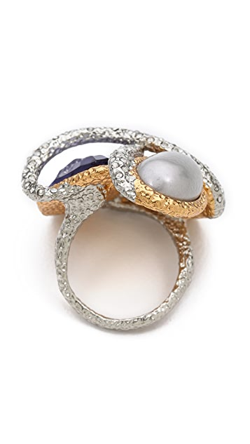 Alexis Bittar Multi Stone Encrusted Vine Ring