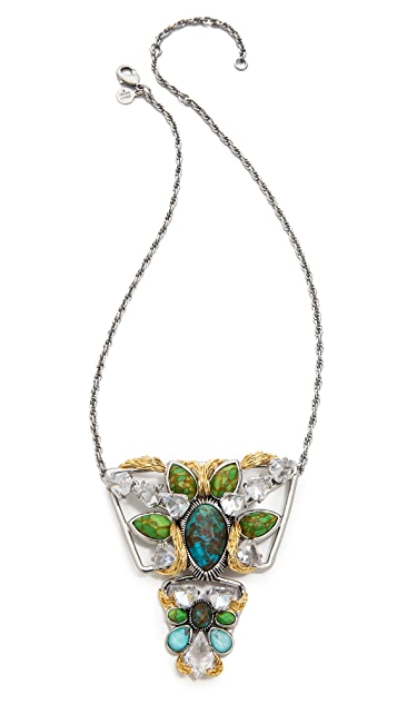 Alexis Bittar Two Tiered Olmeca Pendant Necklace