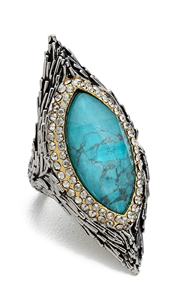 Alexis Bittar Feathered Pave Bezel Ring